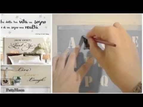 Scritte sui muri di casa in stile shabby come si fanno video progetti pinterest shabby - Scritte sui muri di casa ...