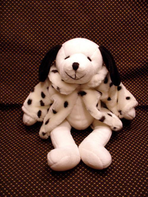 Plush White Dog with Cruella DeVille Coat | Plush Animals | Pinterest