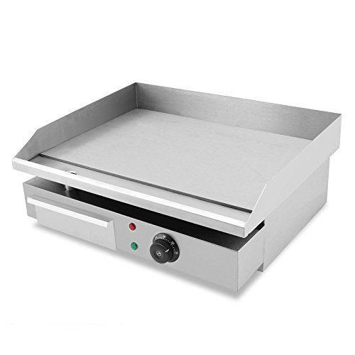 FoodKing Electric Griddle Cuisinart Griddler Electric Grill 22 Inch 55cm  110V Commercial Hotplate BBQ Burger Bacon