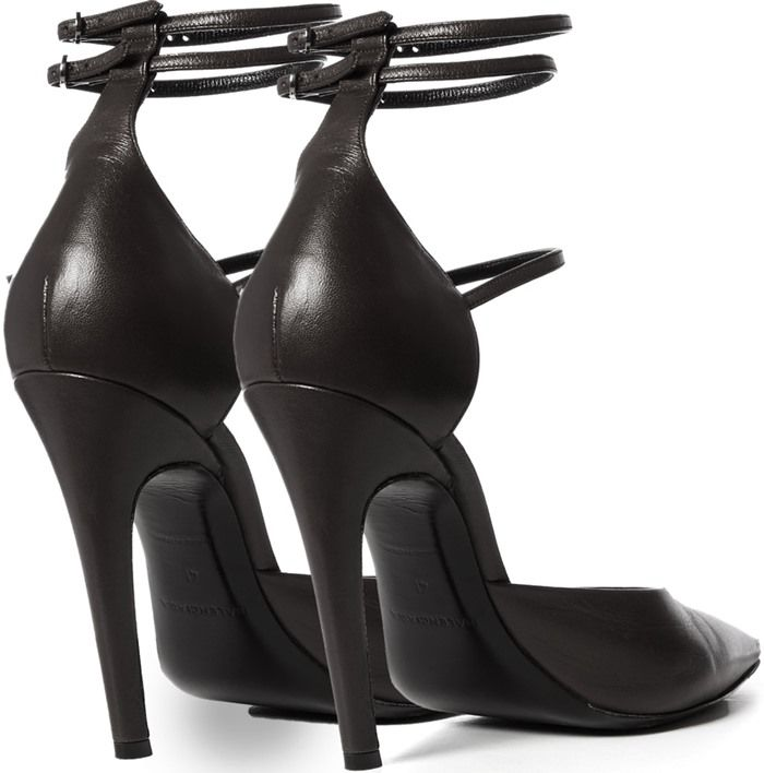 a9d462efda71 Balenciaga  Slash  Triple-Strap Leather Pumps