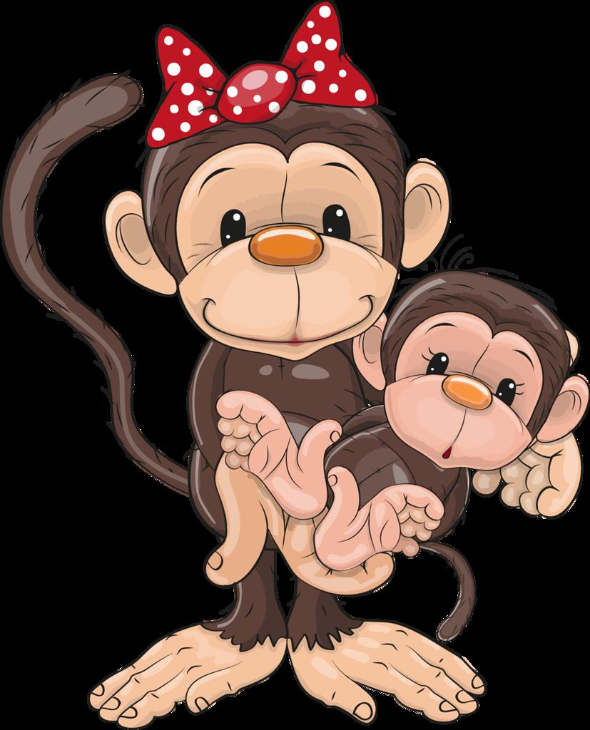 funny cartoons de singe monkey babies and clip art