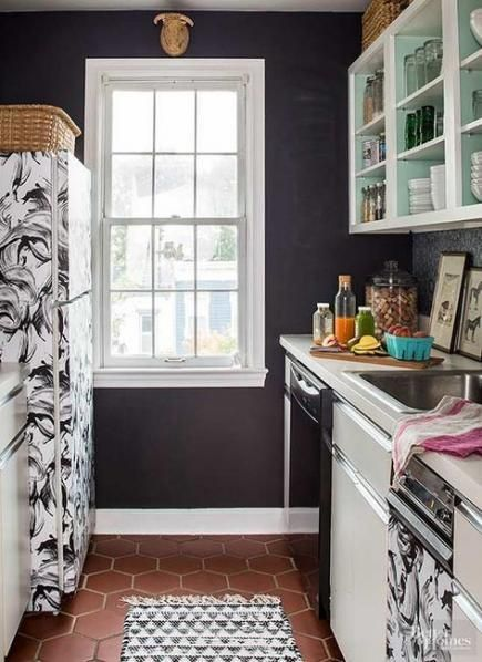 Apartment therapy rental kitchen makeovers contact paper ...