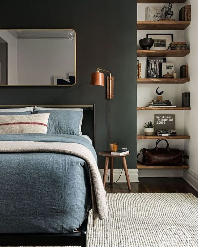 Vintage meets modern bedroom