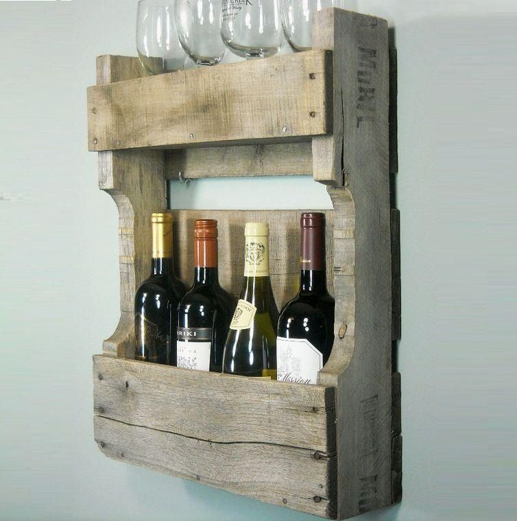 cool wine rack from old pallet