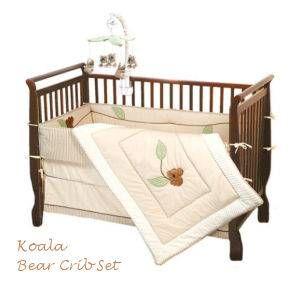 Australian Theme Koala Bear Baby Crib Nursery Bedding Set With Lique Quilt