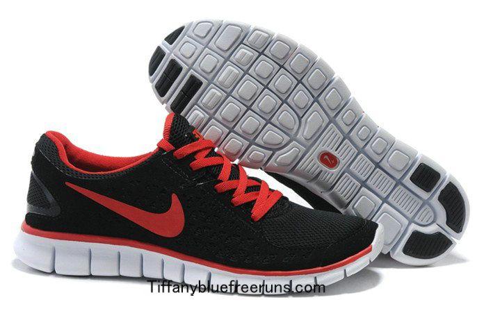 Black Sport Red White Nike Free Run Men Running Shoes