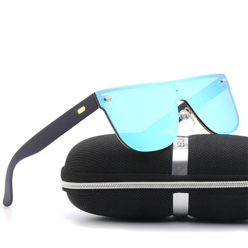 Men/'s Sunglasses Brand Travel Driving Mirror Flat Lens Rimless Women Sun Glasses