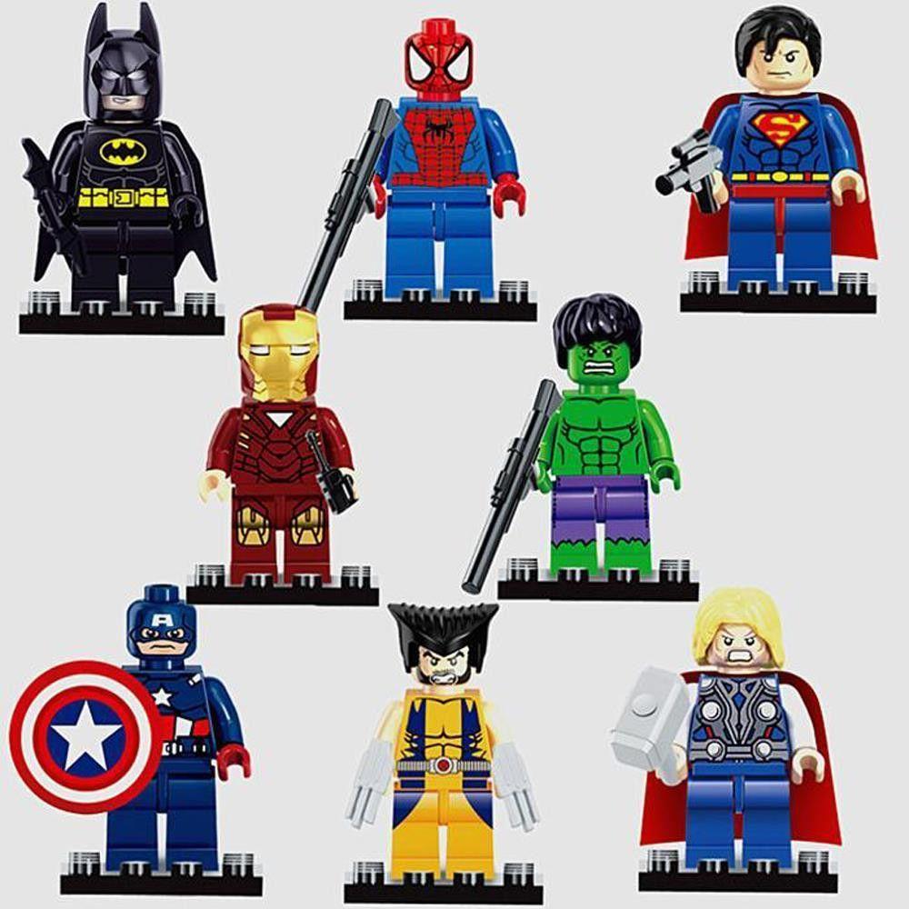 Marvel Avengers Infinity War Cake Toppers 8pcs//set Figures Base Bday Gift Toys b