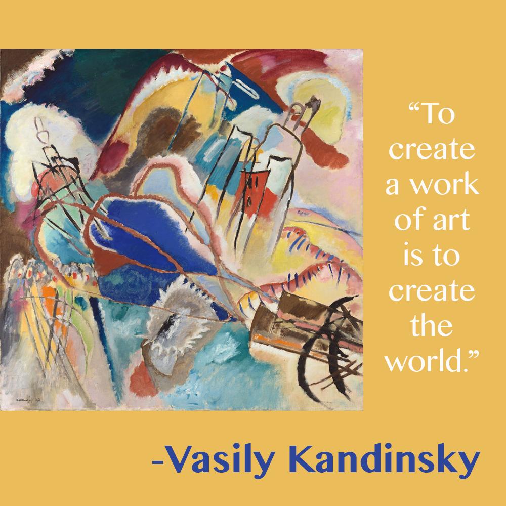 Vasily Kandinsky. Improvisation No. 30 (Cannons), 1913. Arthur Jerome Eddy Memorial Collection.