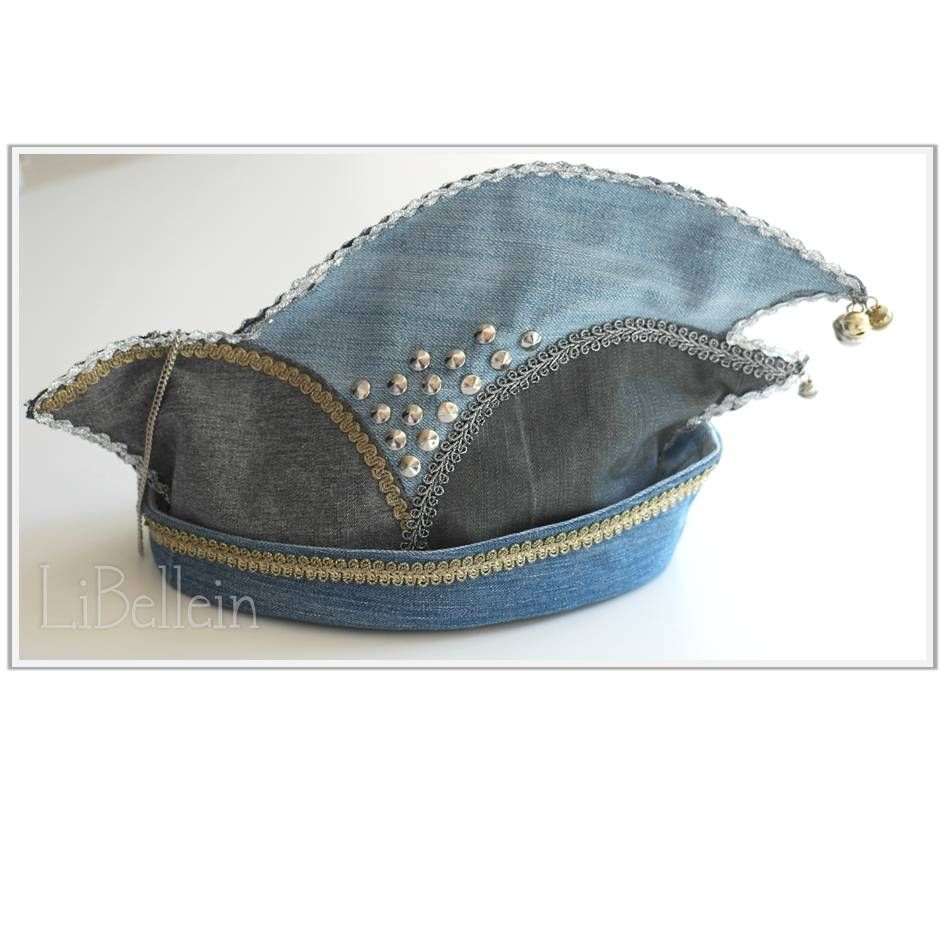 karnevalshut aus alten jeans carnival 39 s hat made from. Black Bedroom Furniture Sets. Home Design Ideas