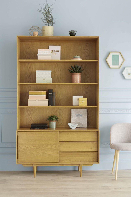 Une Bibliotheque Retro Maisons Du Monde Decoration Retro Mobilier De Salon Relooker Meuble