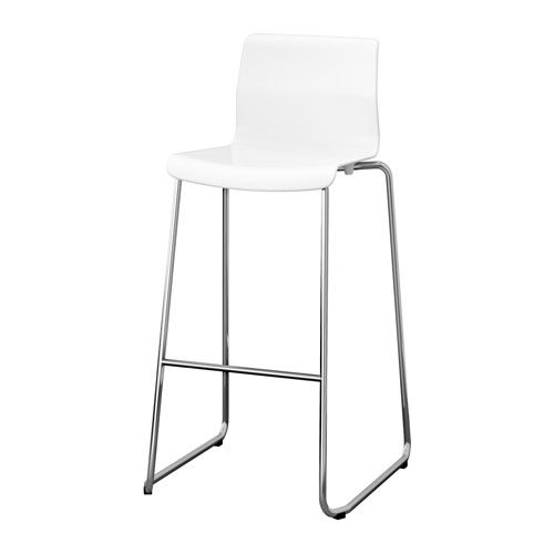 Glenn Bar Stool White Chrome Plated 30 3 8 Ikea White Bar Stools Ikea Barstools Bar Stools