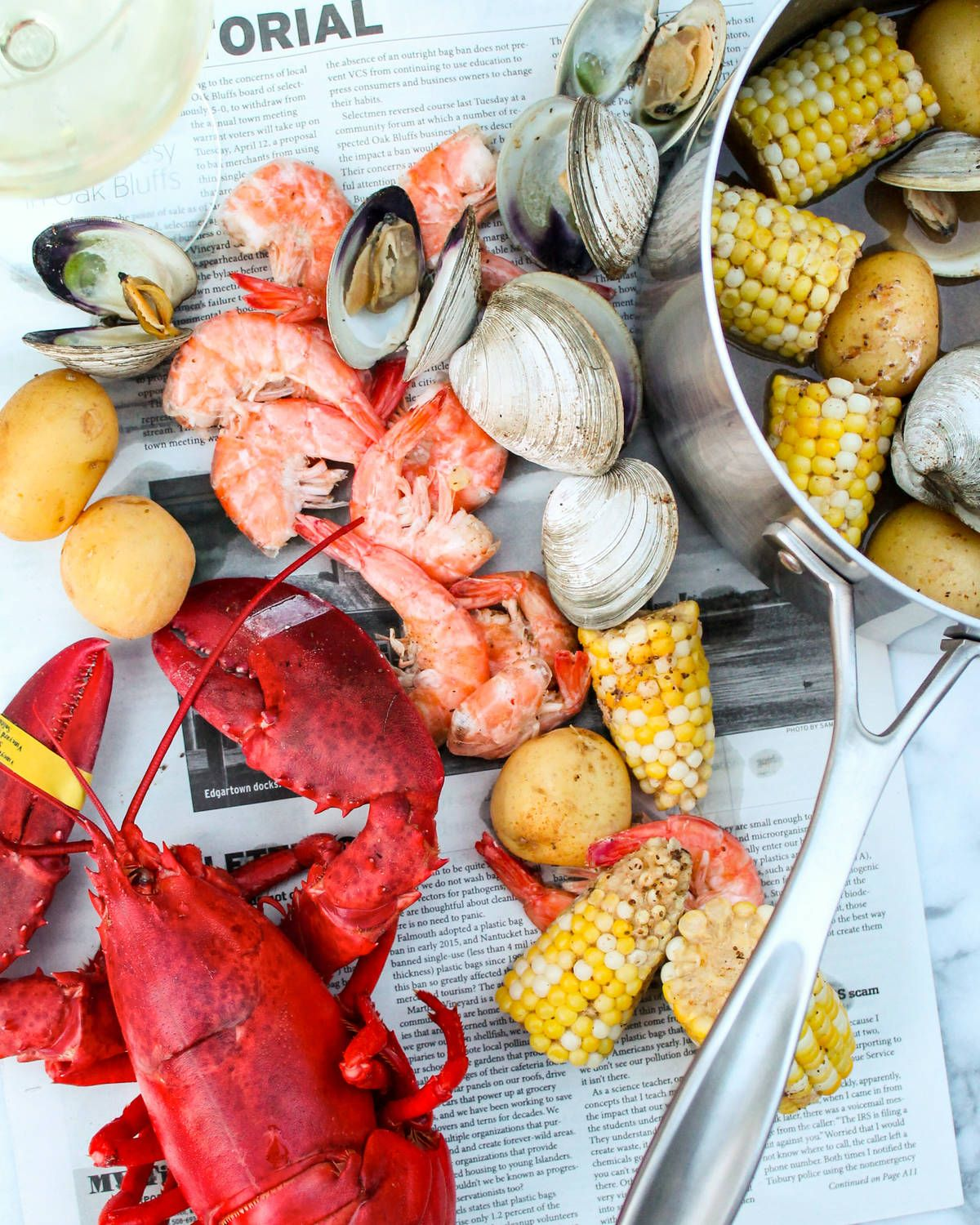 Cape cod seafood boil recipe for two american kitchen cookware