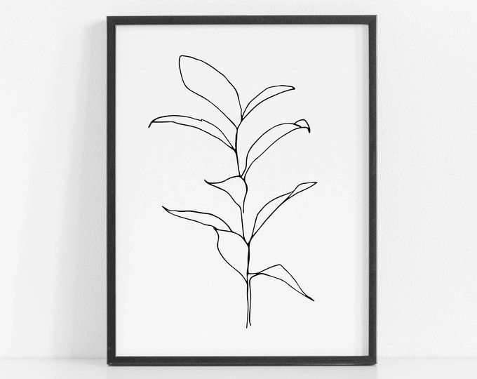 Black Botanical Prints Set Leaf Prints Black Botanical Wall Art Black Leaf Print Set Large Leaves Gold Scandi Art Botanical Art Prints Botanical Wall Art