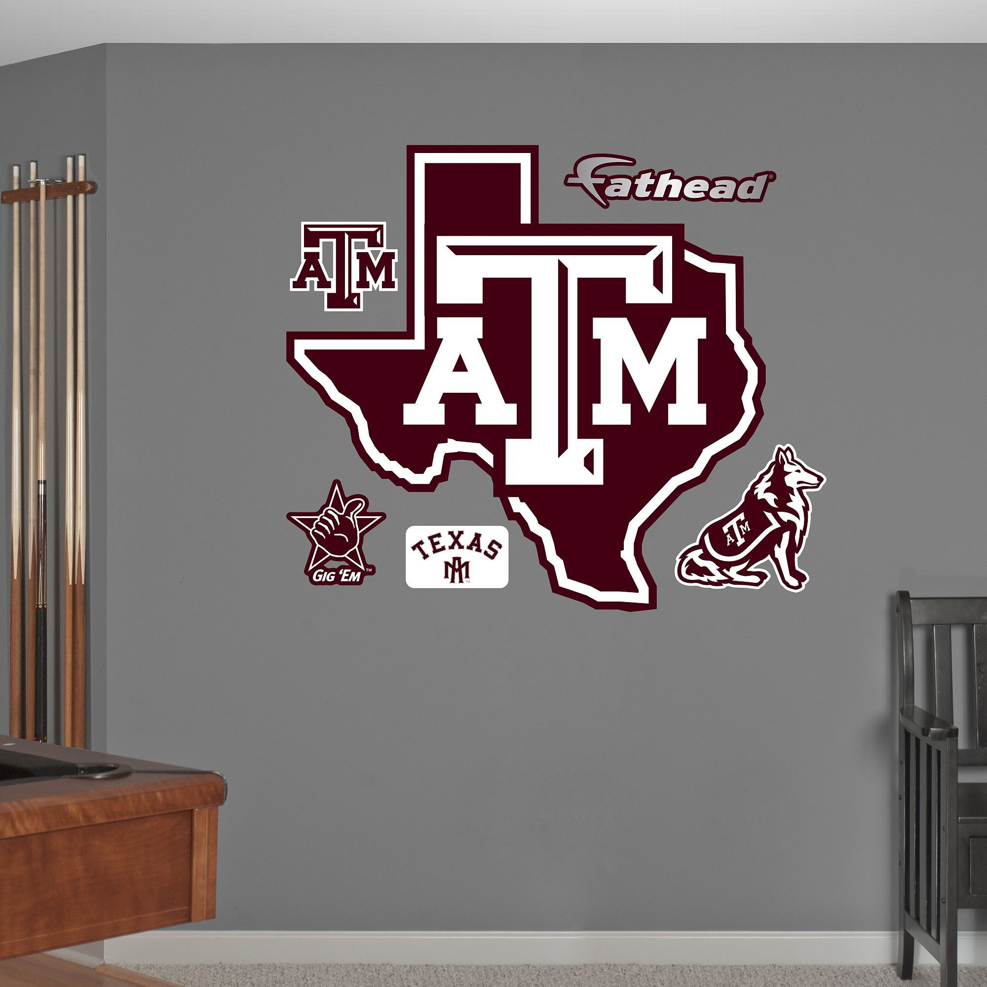 Fathead Texas A&M Aggies Lonestar Logo Wall Decals
