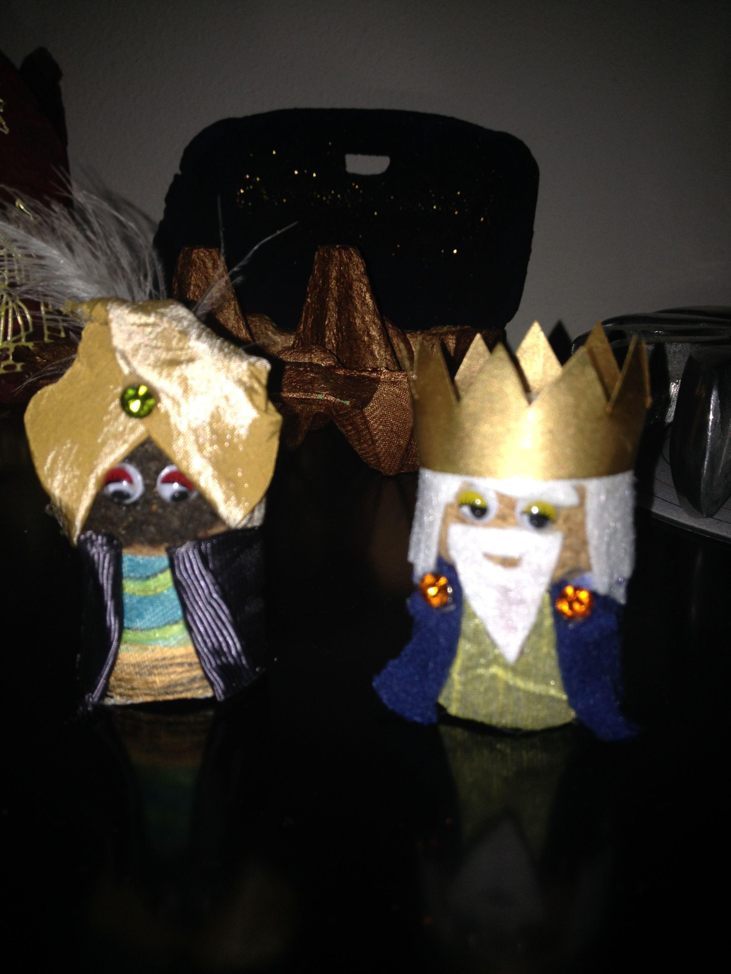 Sus majestades: Baltasar y Melchor