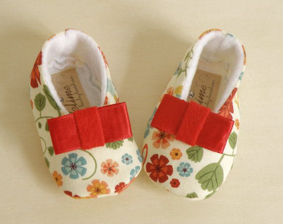 Baby girl shoes made of pure cotton and soft by Melimebabybeeshop