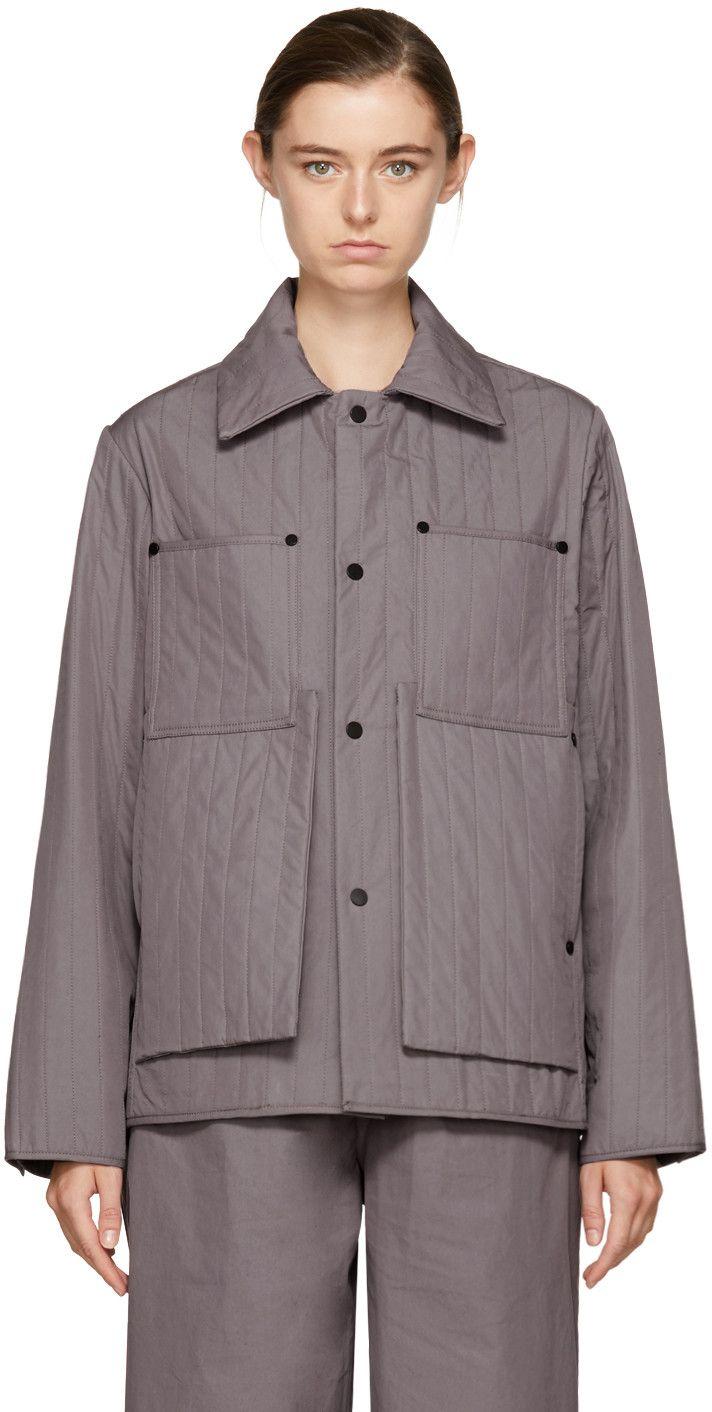 Craig Green Purple Quilted Workwear Jacket Purple Quilts Jackets Work Wear