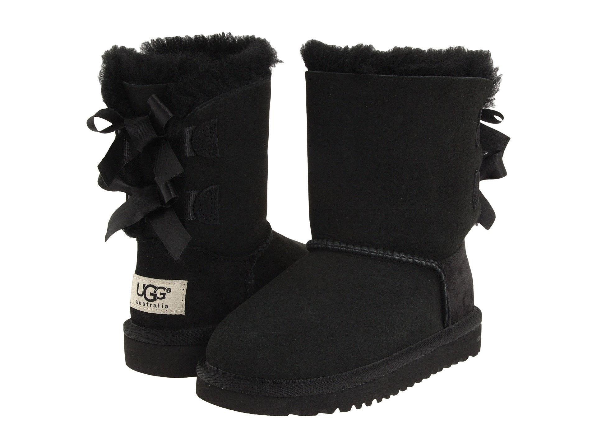 Ugg Australia Bailey Bow Boot - Black (Girls)