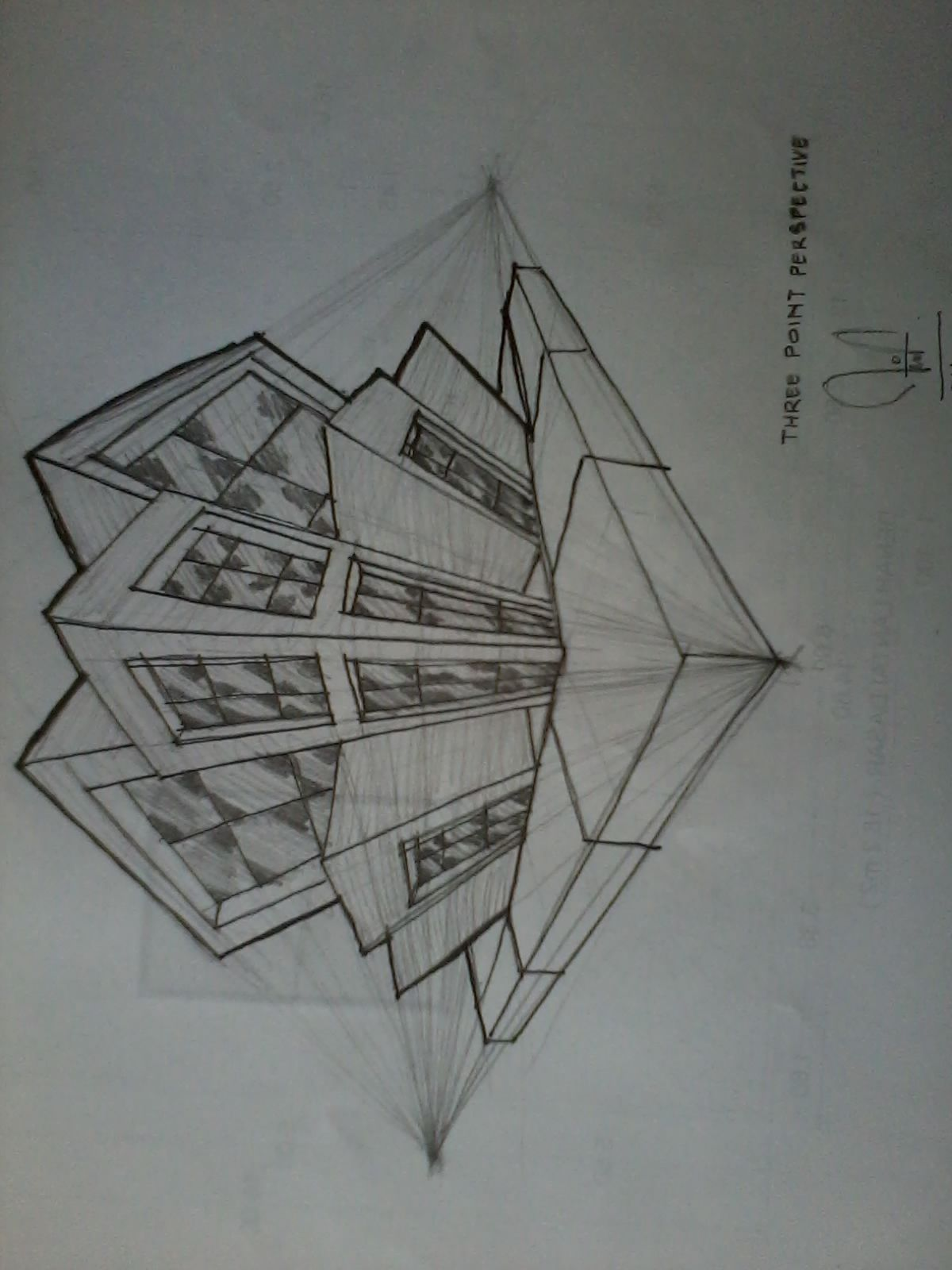 Freehand Three Point Perspective