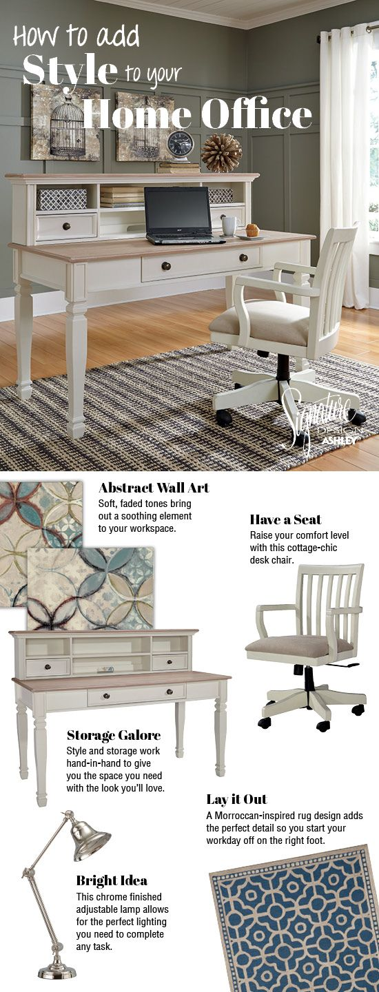 Add Style To Your Home Office Sarvanny Home Office Ashley Furniture Ashleyfurniture Homeoffice Ashley Furniture Furniture Home
