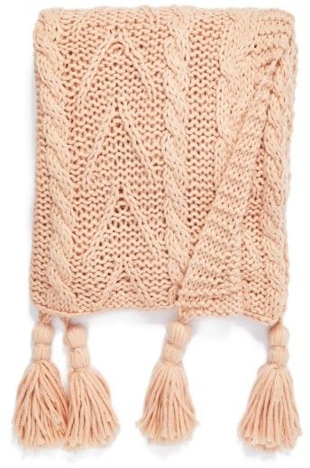 Blush Pink Throw Blanket Perfect Pink Throw Nordstrom At Home Cable Knit Tassel Throw