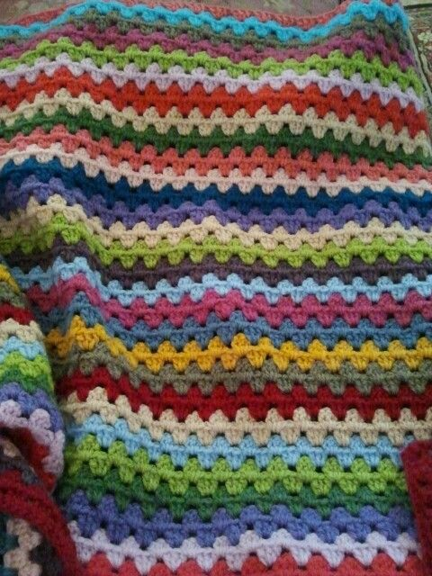Granny stripes blanket in progress. www.corine24.wordpress.com ...