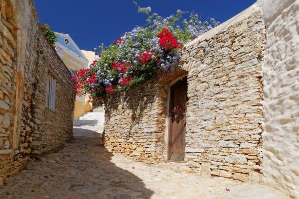 Streets of Symi island, Greece
