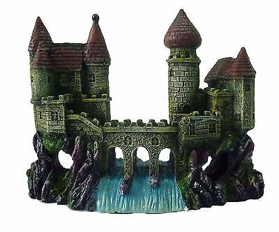 large castle ruin enchanted or castle waterfall aquarium ornament decoration