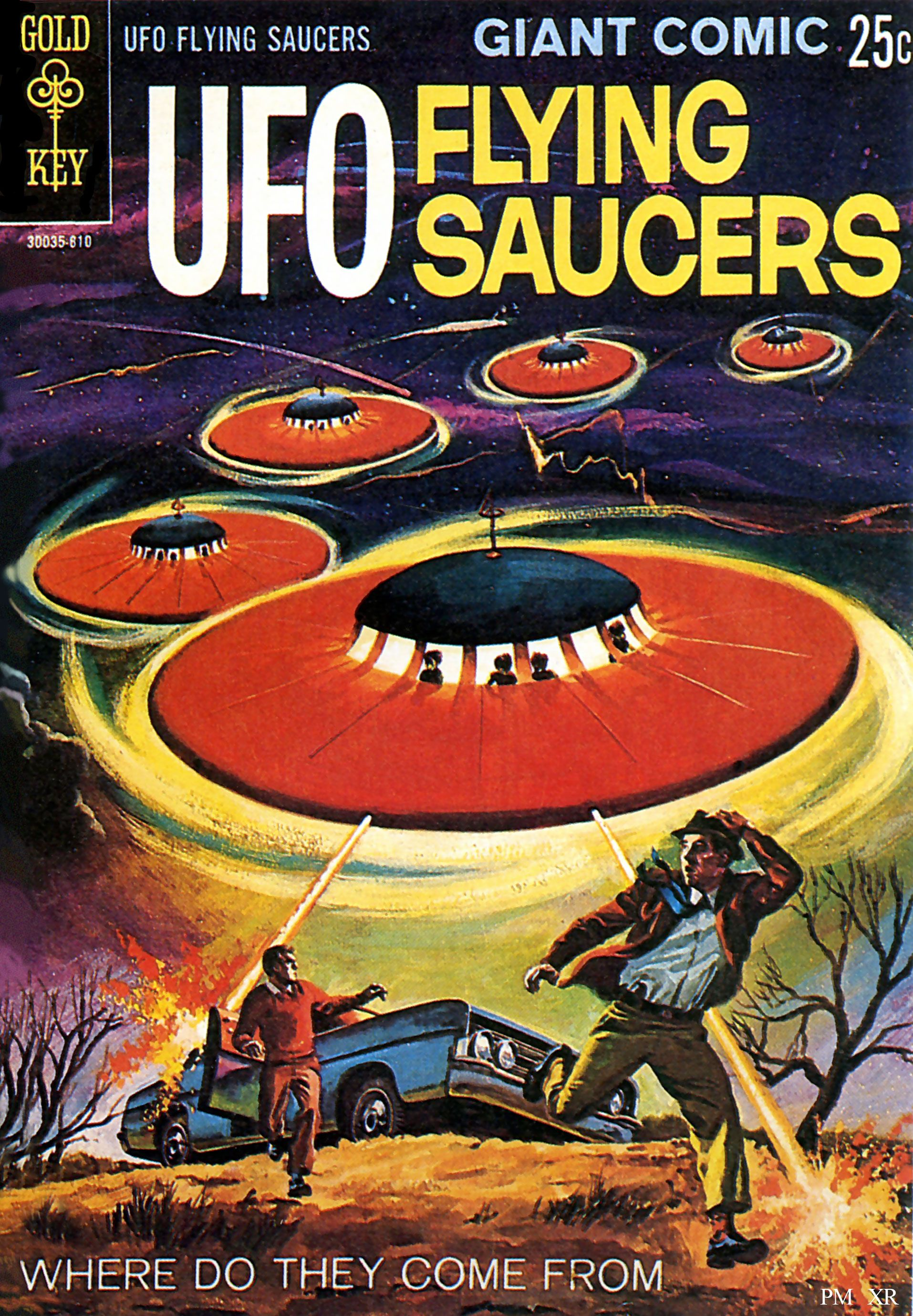 UFO Flying Saucer Comic | Vintage Science, Space ...