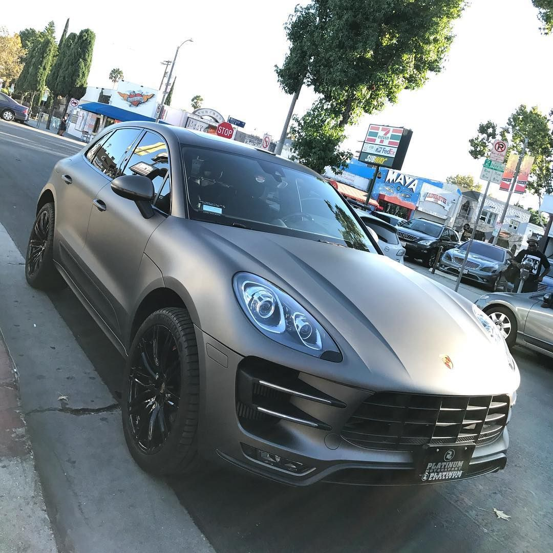 Porsche Macan Turbo Professionally Wrapped In Pml Pantone Matte Charcoal Metallic Complete With Our Platinum Trim Pack Commissioned In Proper Form For R