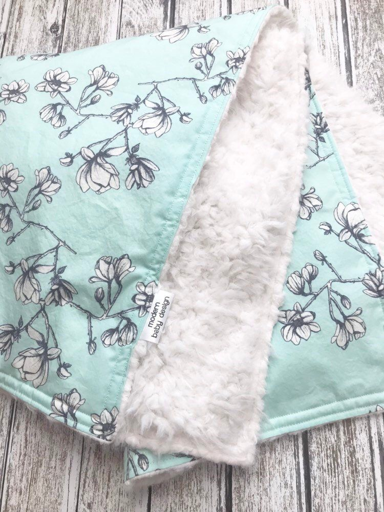 0776f4380124 Excited to share this item from my  etsy shop  Magnolia Baby Blanket