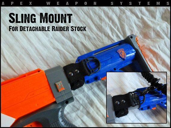 Custom NERF Gear Sling Mount by apexweaponsystems on Etsy