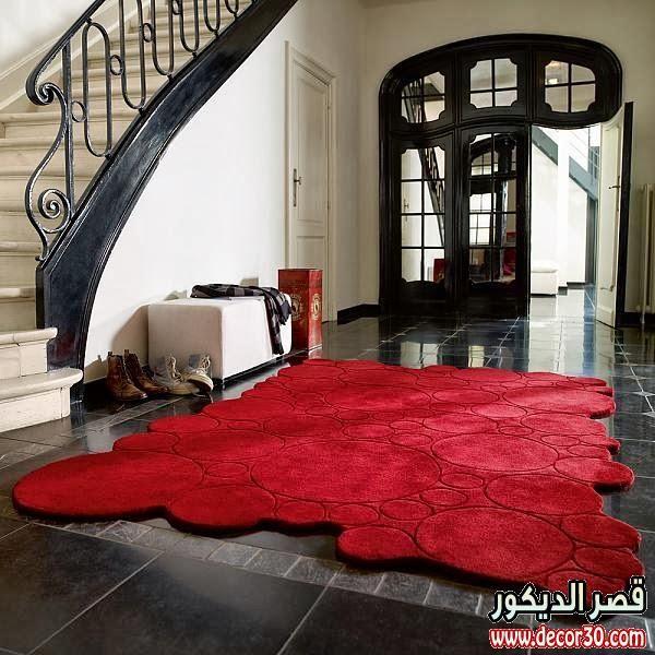 اشكال سجاد مودرن الاجمل على الاطلاق Red Interior Design Red Rooms Red Interiors