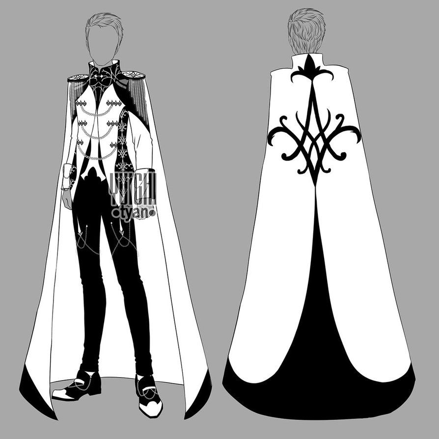 Closed Auction Bw Outfit Men 15 By Yuichi Tyan Character Outfits Anime Outfits Fashion Sketches