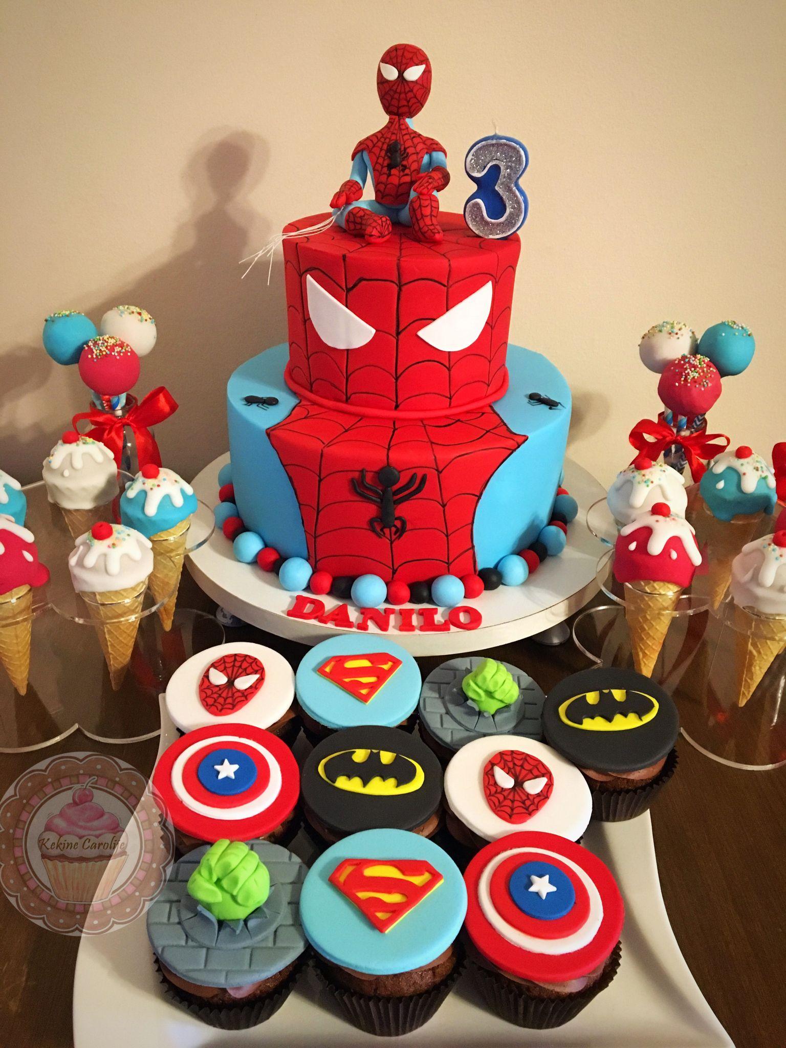 Spiderman cake for boy ❤️