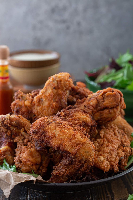 The Crispiest Fried Chicken Www Oliviascuisine Com Love Buttermilk Fried Chicken But Can Never Get It Ri In 2020 Crispy Fried Chicken Food Buttermilk Fried Chicken