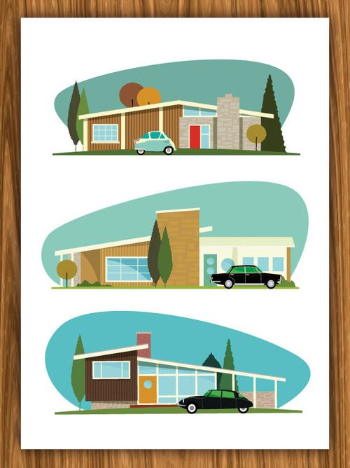 Mid Century Mods, Neal McCullough | graphic design | Mid ...