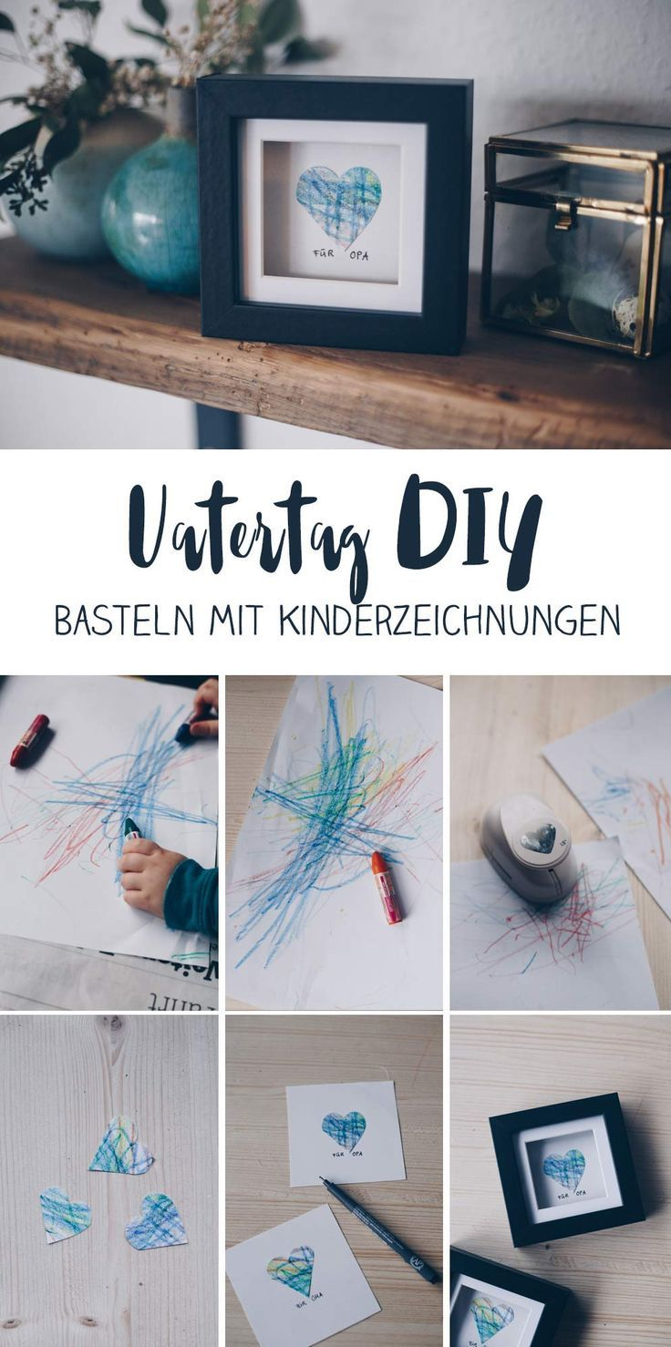 Photo of DIY gift idea with children's drawing – gift idea for grandma …