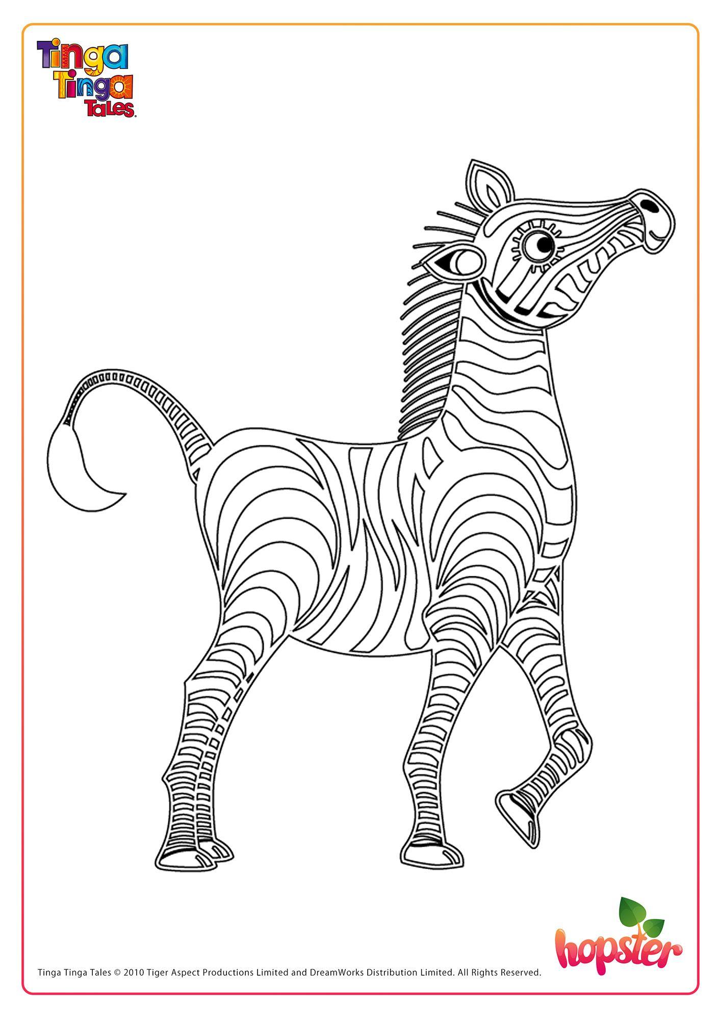 Can You Help Zebra From Tinga Tinga Tales Get His Black Stripes Back Fun Printables For Kids Free Kids Fun Printables