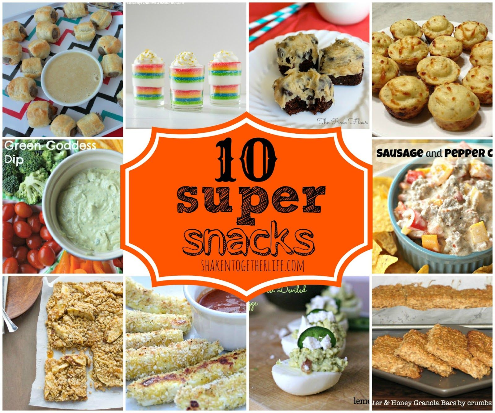 Ten Snack Ideas for Parties and Yummy Munching!