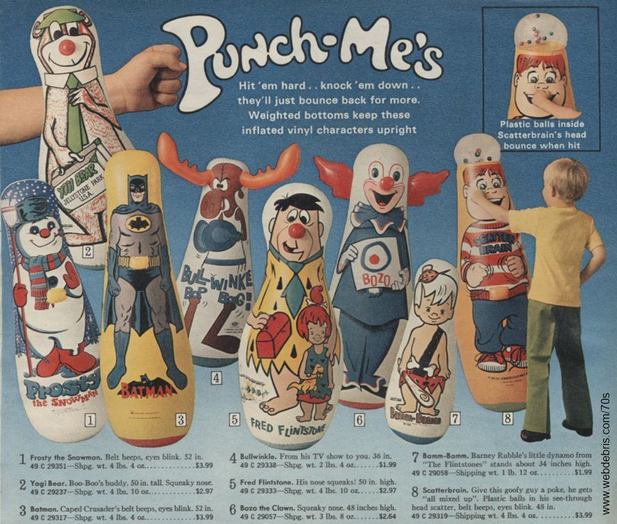 Bozo The Clown Inflatable Bop Bag Multiple Friends Had This In