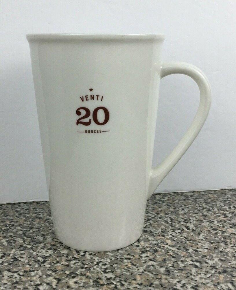 Details About Starbucks 2010 Venti 20 Ounces White Ceramic