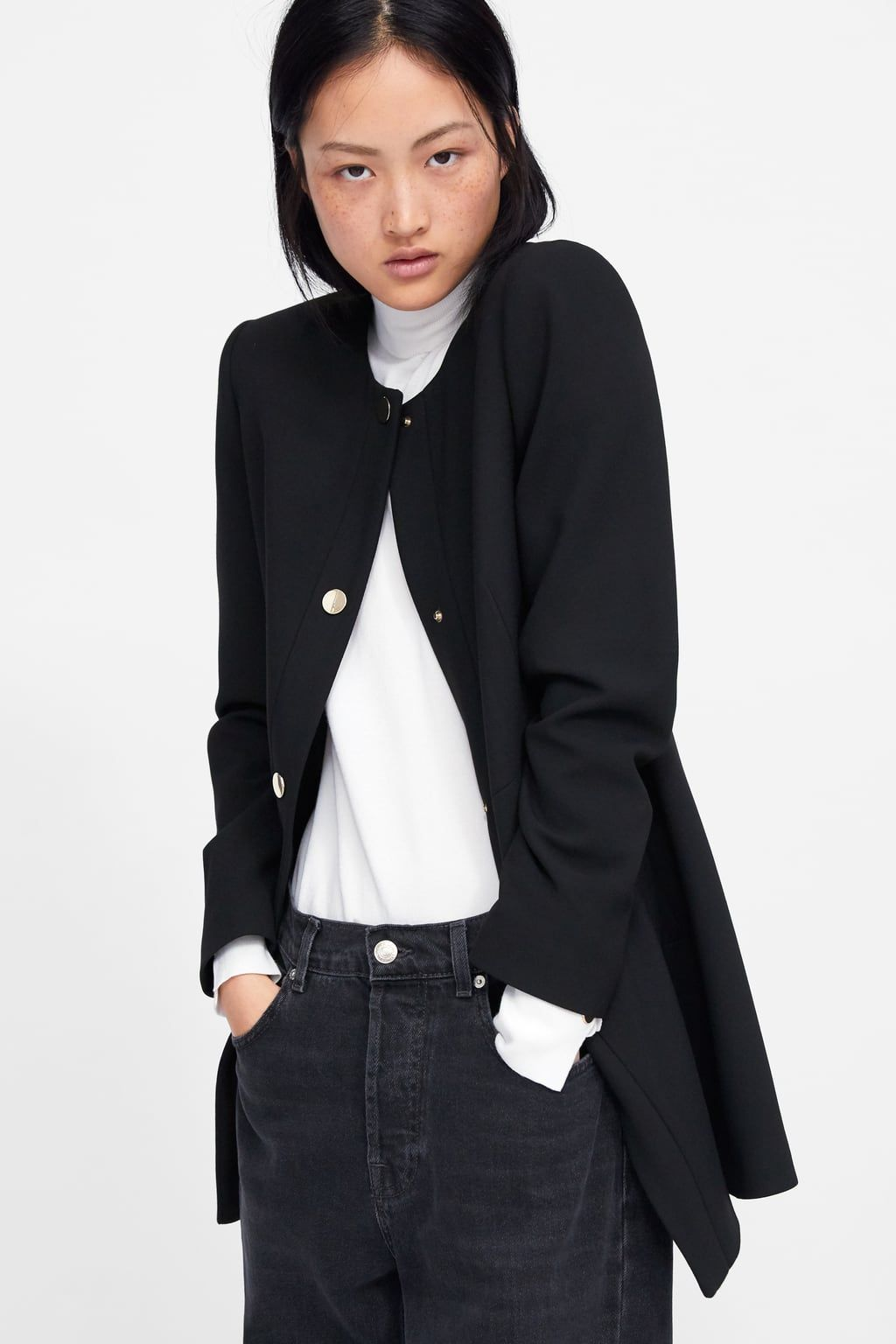 0a918c06f72a Image 4 of SNAP-BUTTON FROCK COAT from Zara