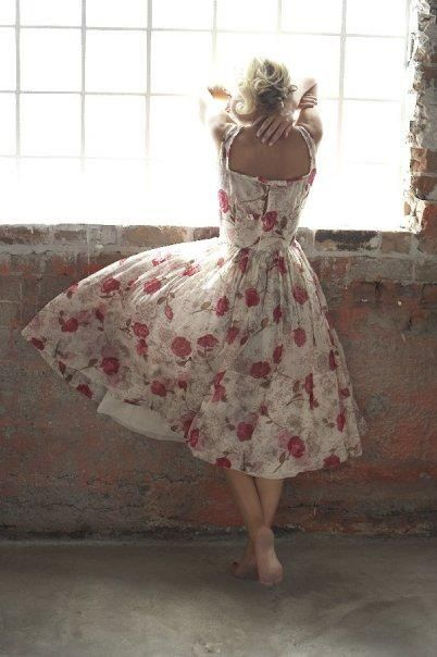 Lovely floral summer dress from the 60's