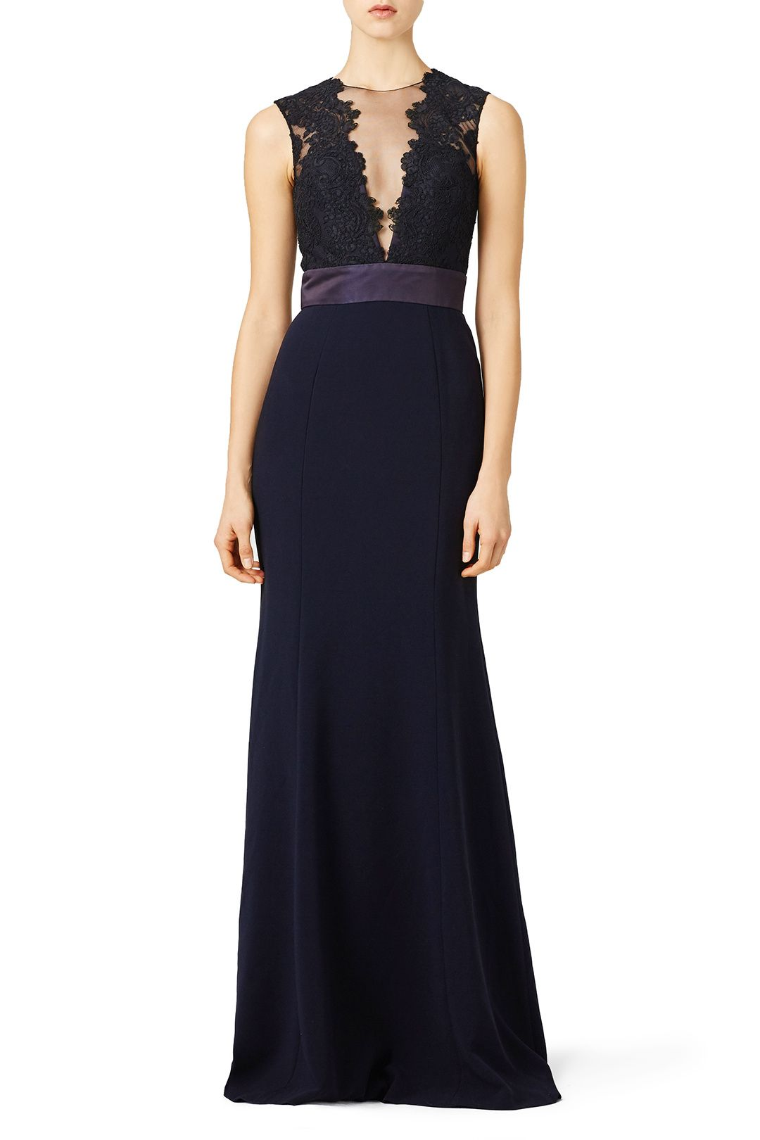 b1e1f5f9 Rent Deep Midnight Gown by Theia for $185 - $200 only at Rent the Runway.