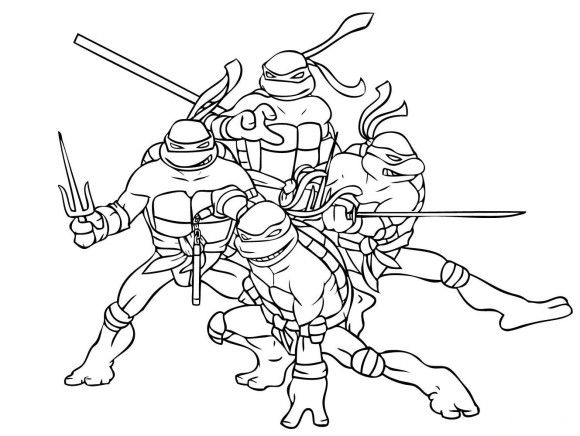 Superhero Coloring Page Ninja Turtle Free | Kleurplaat | Pinterest