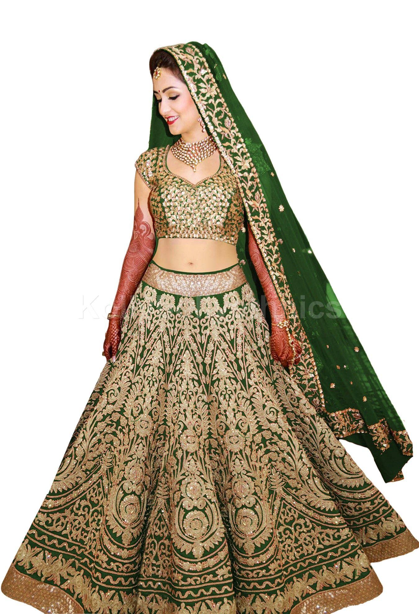 1bcb30d6470c Buy Bollywood model green color raw silk wedding lehenga choli in UK ...