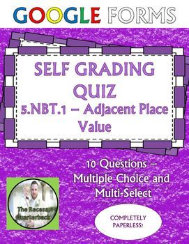 FREE Place Value Self Grading Assessment for Google Forms ...