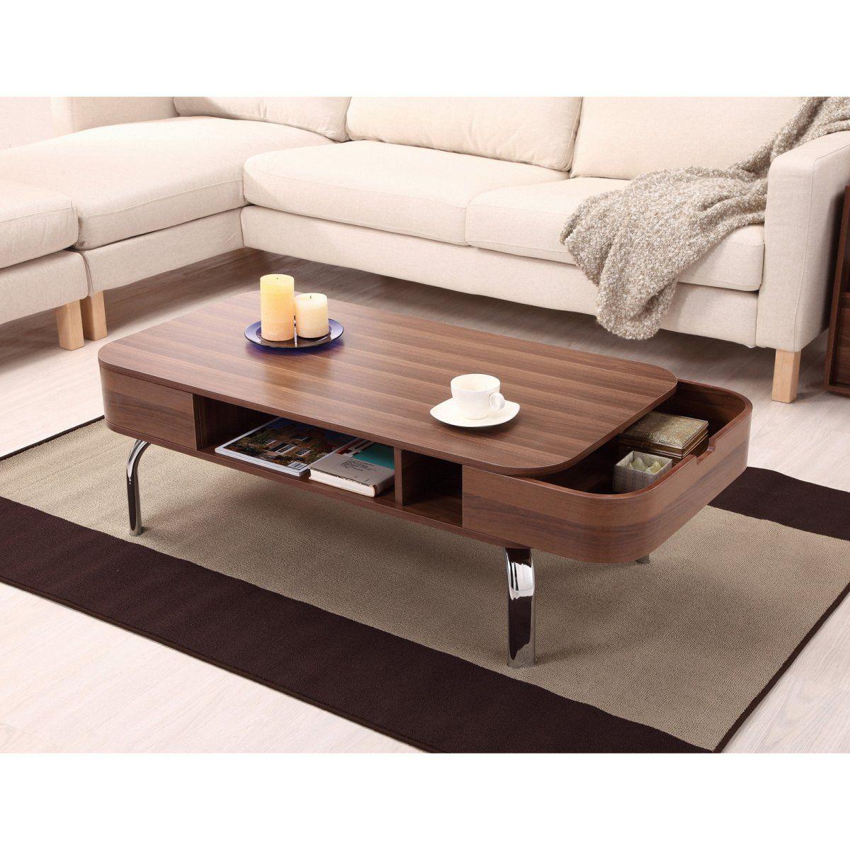 Lawson modern walnut drawer coffee table products i love